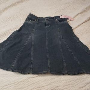 Nwt candie's girl denim maxi western skirt